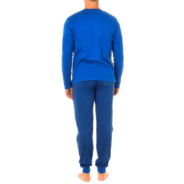 Pijama m/larga hombre - azul