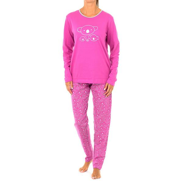 Pijama m/larga mujer - rosa