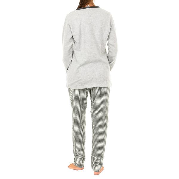 Pijama m/larga mujer - gris