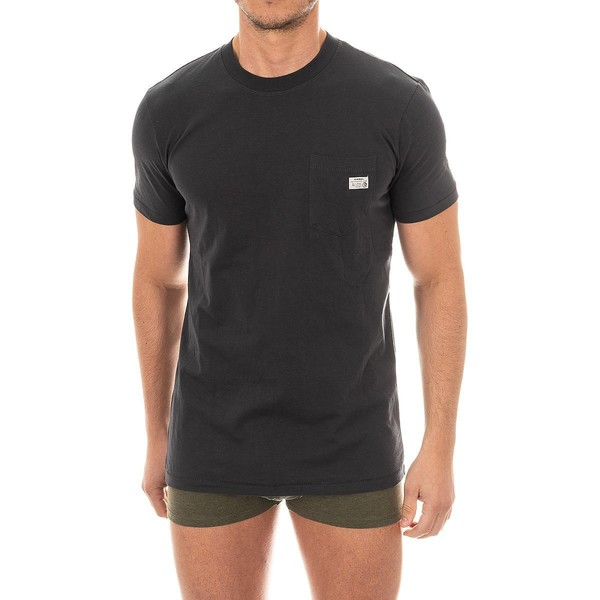 Camiseta interior m/corta hombre - gris oscuro