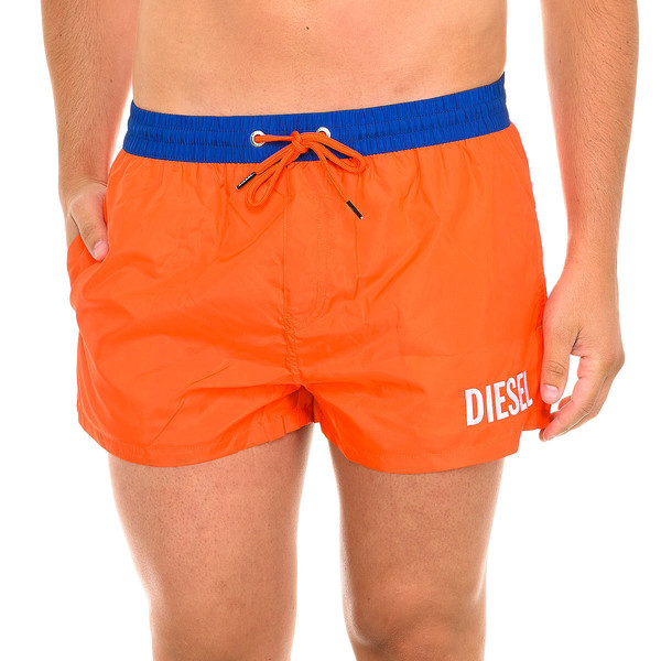 Bañador hombre - naranja flúor/azul