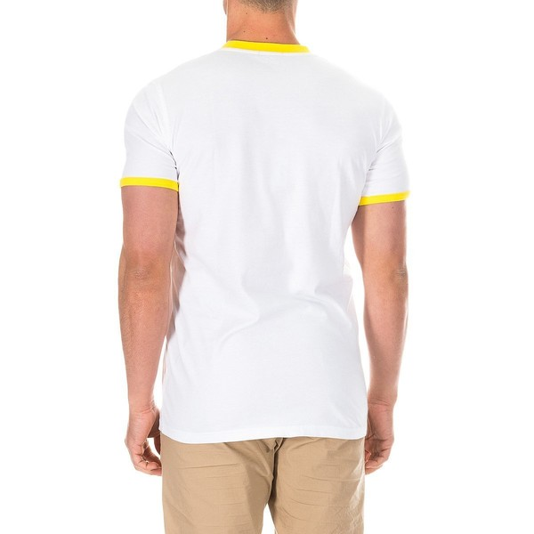 Camiseta m/corta hombre - blanco/amarillo