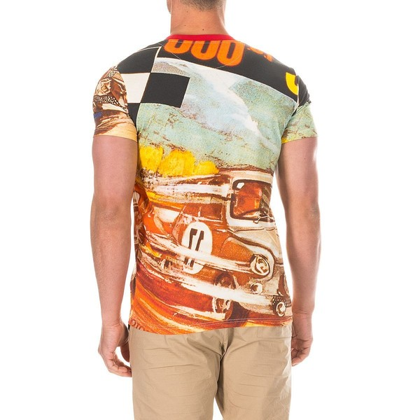 Camiseta m/corta hombre - multicolor