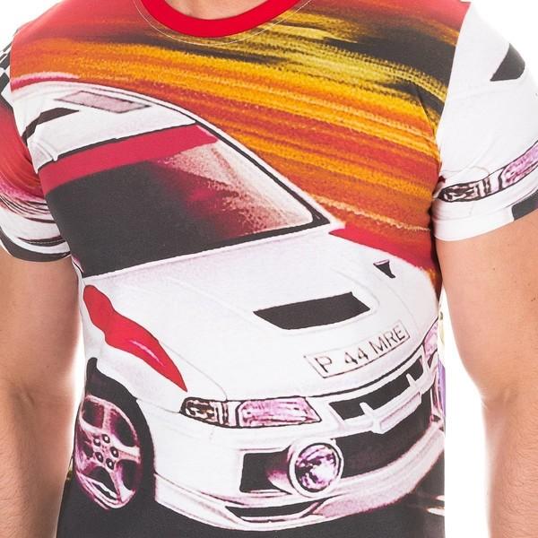 Camiseta m/corta hombre - blanco/multicolor