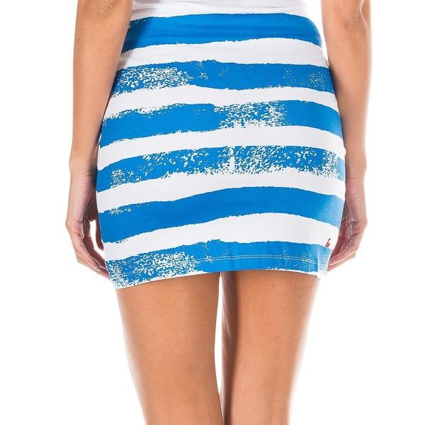 Mini falda mujer - blanco/franjas azules