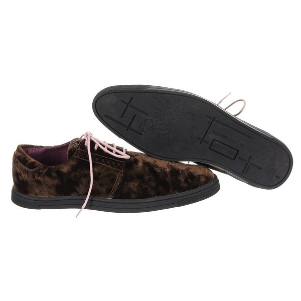 Zapatos hombre - marrón oscuro/morado