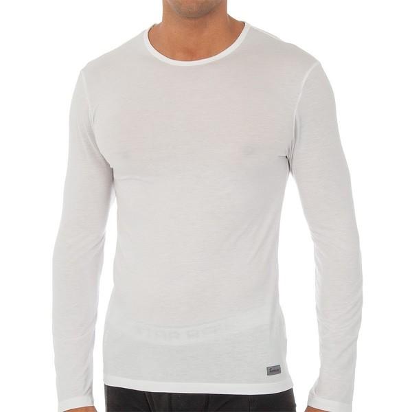 Camiseta m/larga hombre - blanco