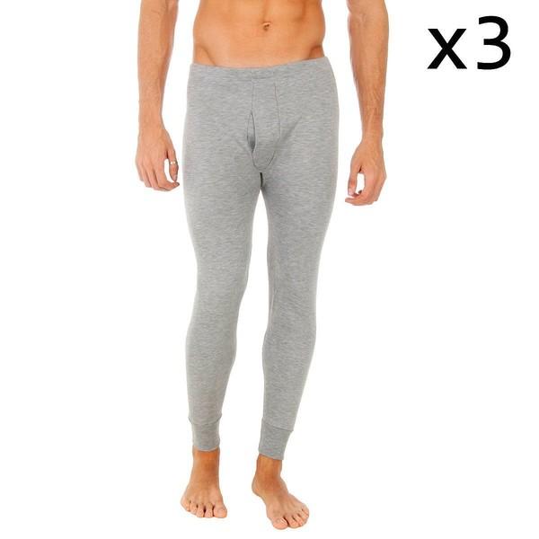 Pack 3 Pantalones interior hombre - gris