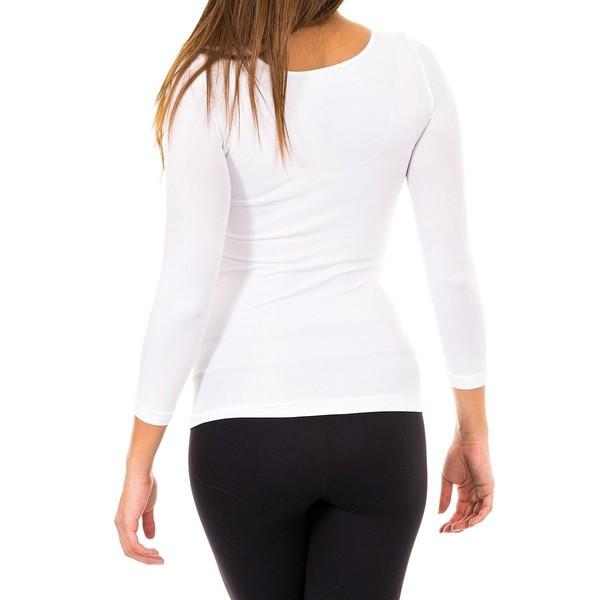 Camiseta m/larga mujer - blanco