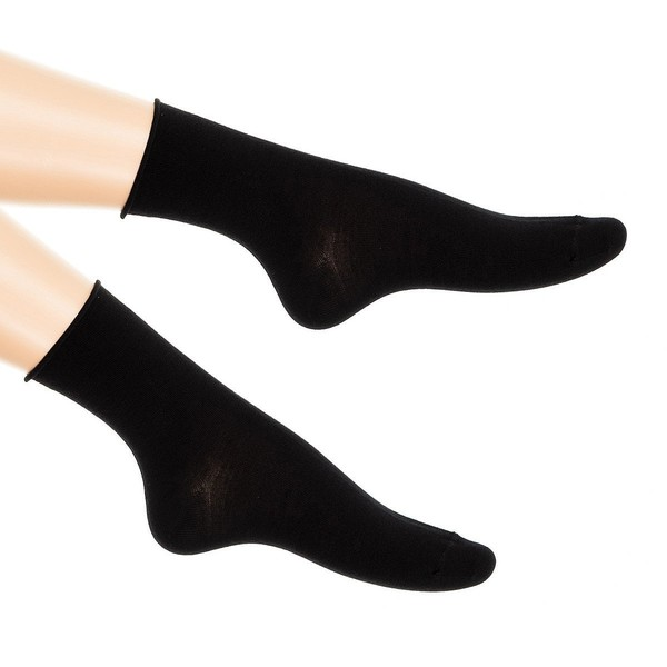 Pack 6 calcetines mujer - negro