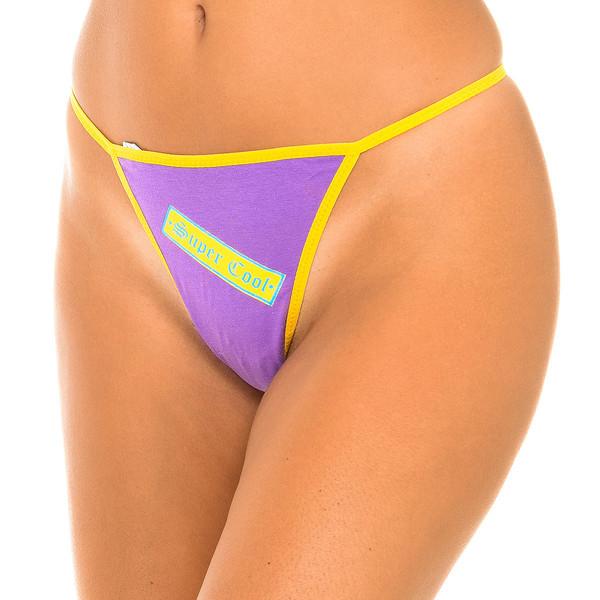 Pack/3 tangas hilo mujer - rosa/lila/amarillo