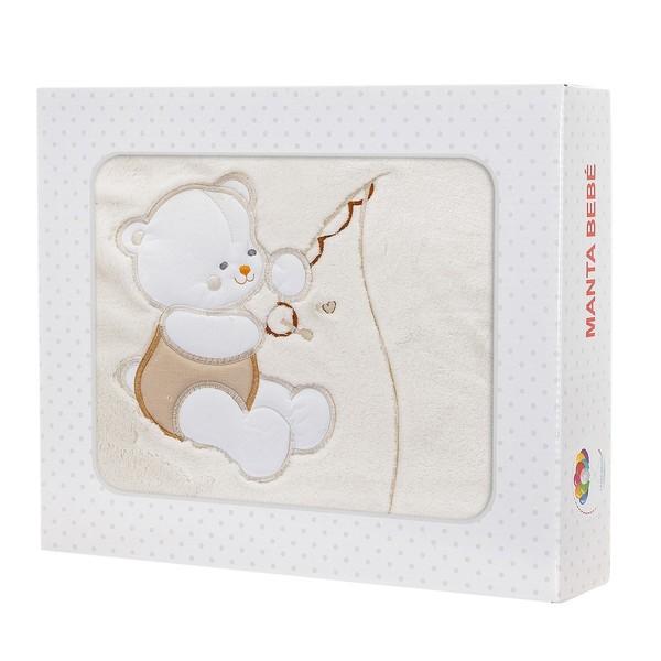 Manta bebé Le Petit Garçon BEBE - Beige