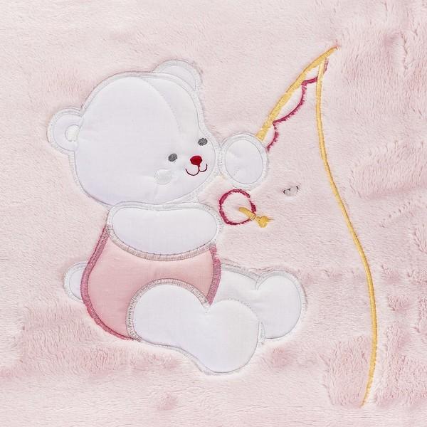 Manta bebé Le Petit Garçon BEBE - Rosa