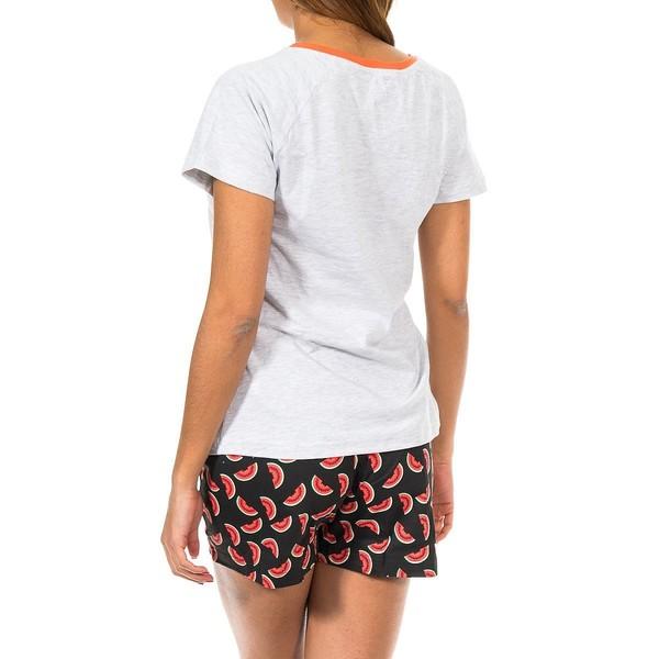 Pijama m/corta mujer - gris