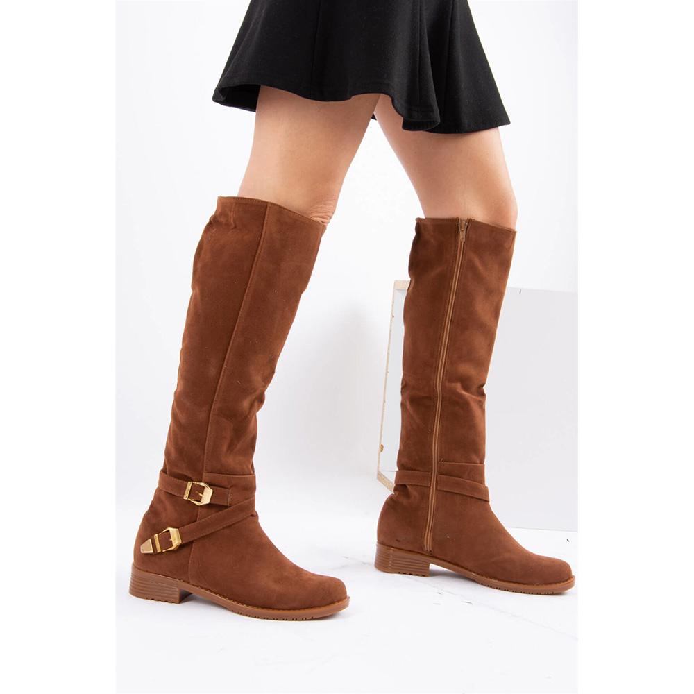 Bota alta mujer - marrón