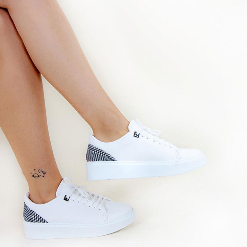 Sneaker plana mujer - blanco