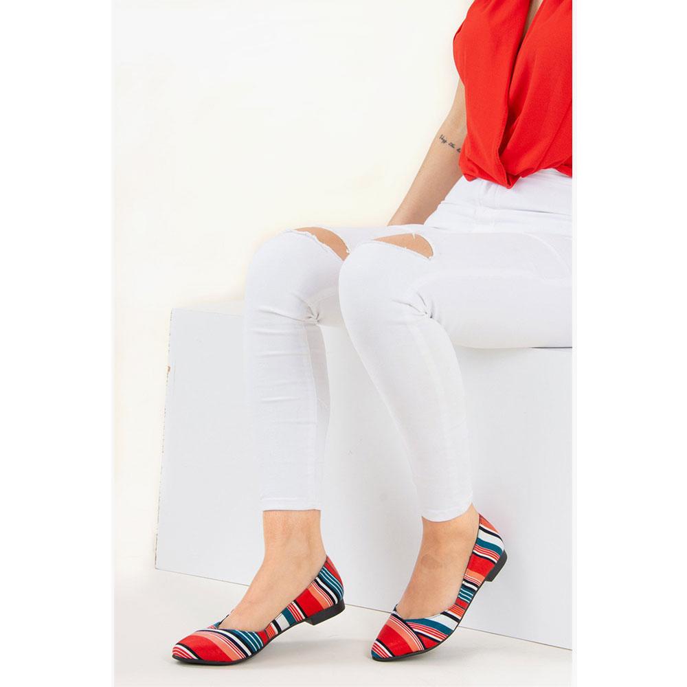 Manoletina mujer - rojo/marino