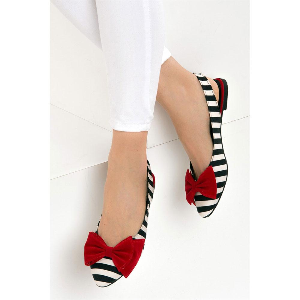 Bailarina mujer - negro/blanco/rojo