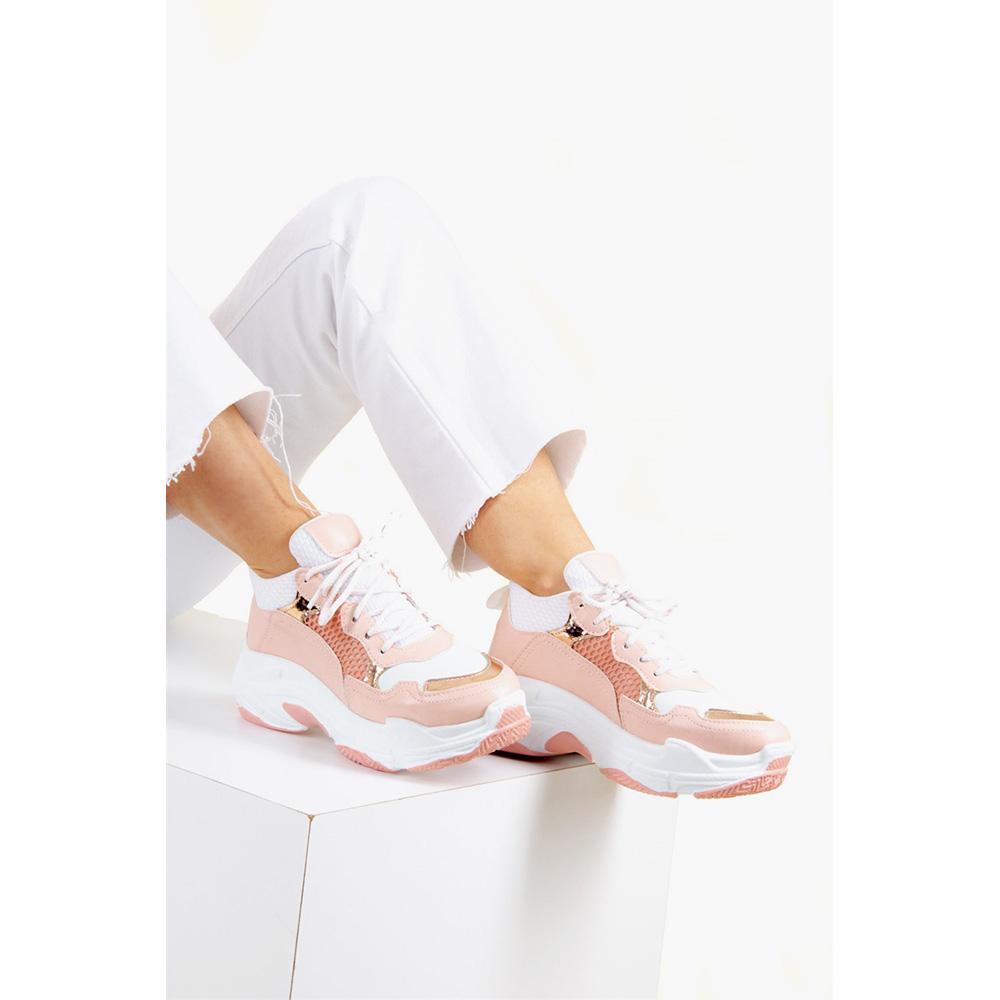 5cm Sneaker mujer - blanco/rosa