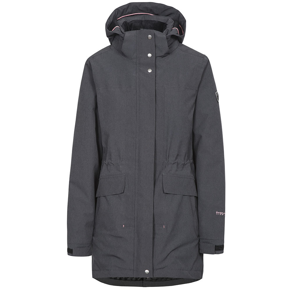 Chaqueta impermeable mujer - gris oscuro