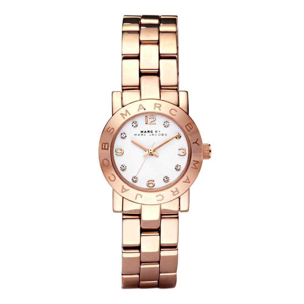 Reloj acero mujer - rosado