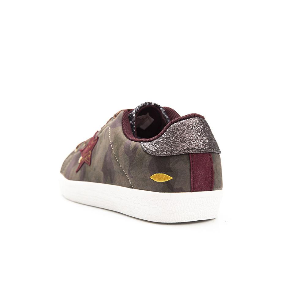 Sneaker plana mujer - marrón