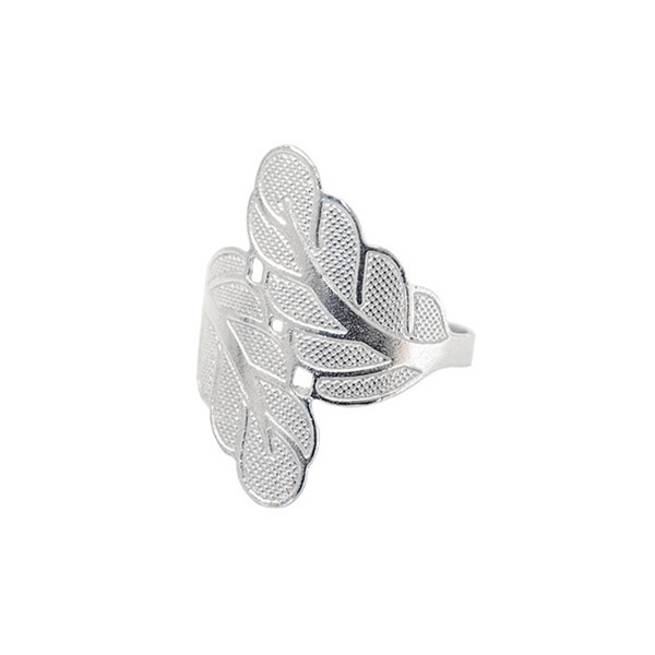 Anillo hojas - plata