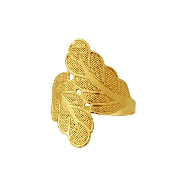 Anillo hojas - dorado