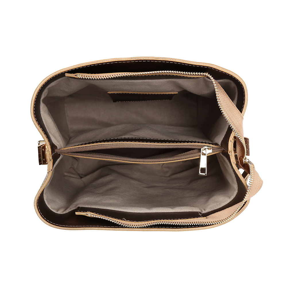 Bolso shoulder mujer - marrón