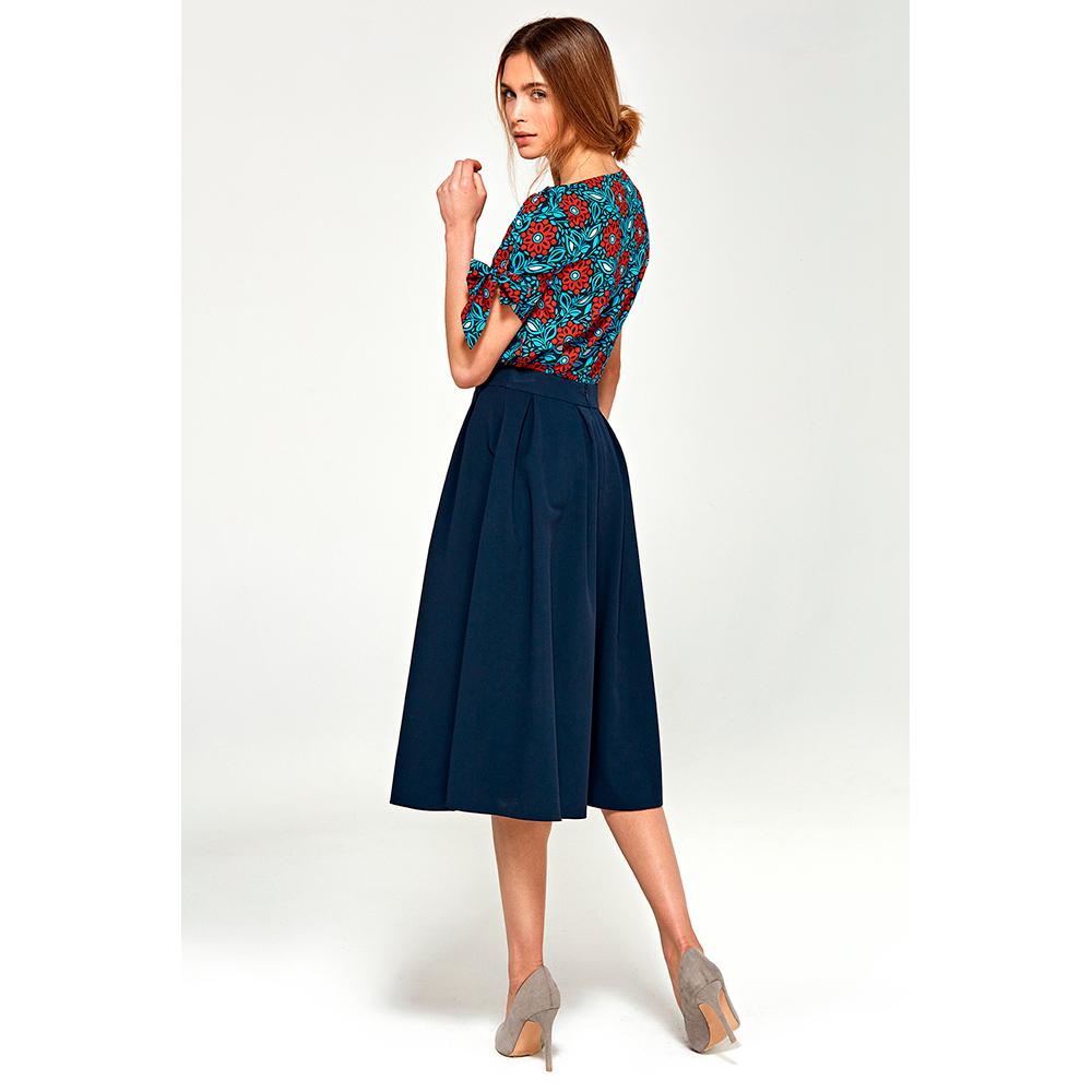 Blusa mujer - azul/estampado