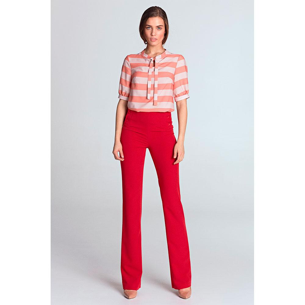 Blusa manga media mujer - rosa/rayas