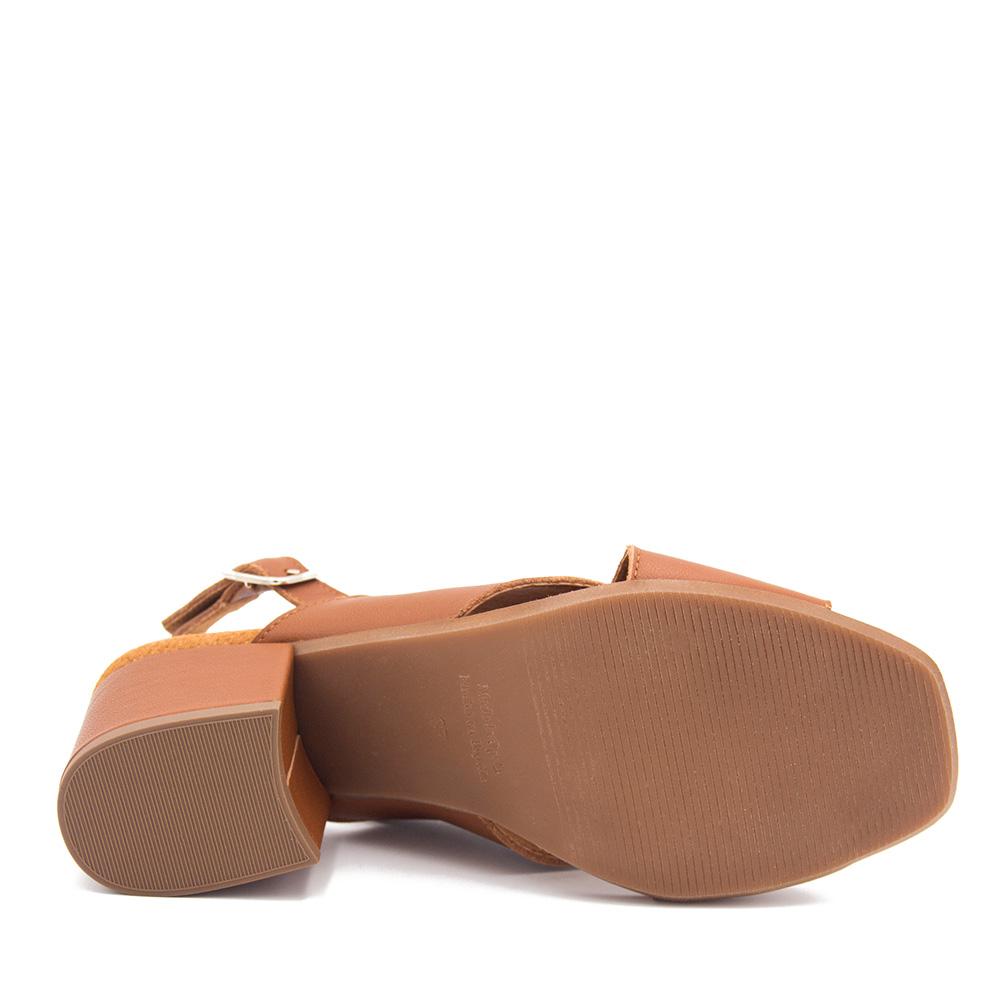 8cm Sandalia piel mujer - marrón