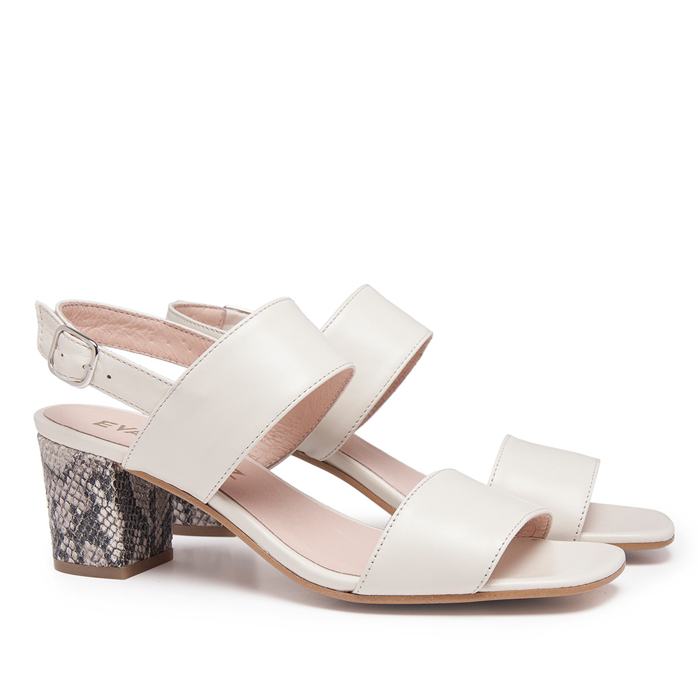 5,5cm Sandalia piel mujer - hielo