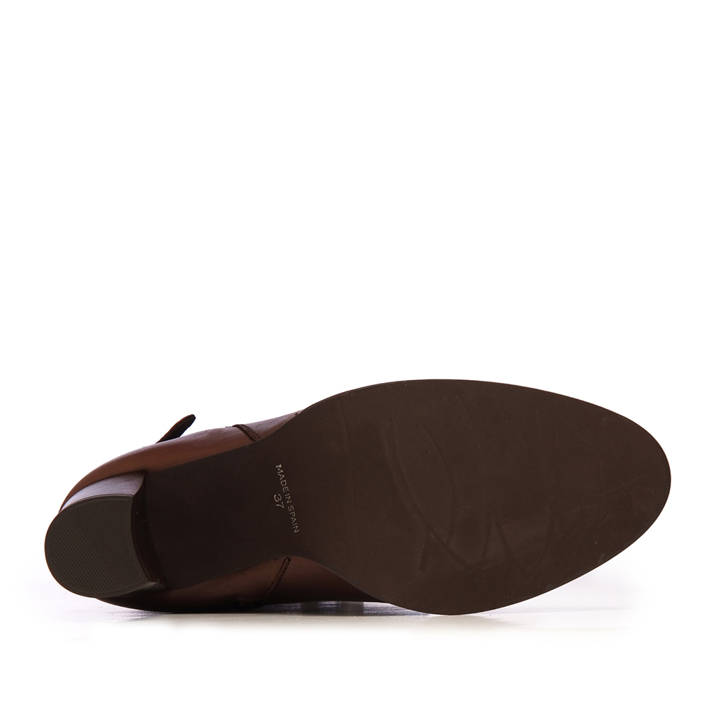 8cm Bota alta tacón piel mujer - marrón