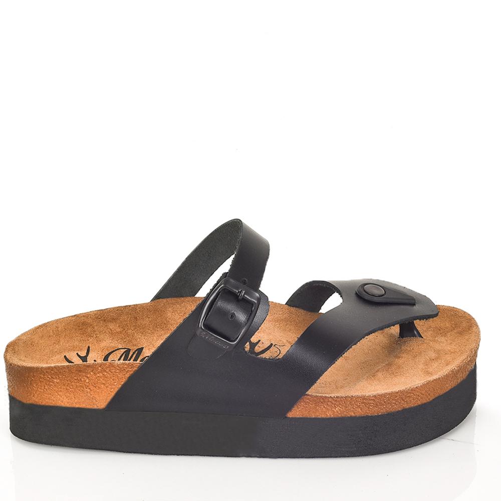 4,2cm Sandalia piel mujer - negro