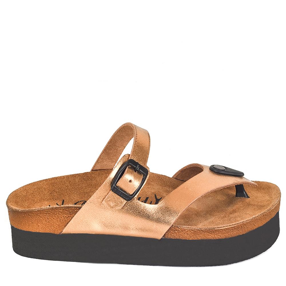 4,2cm Sandalia piel mujer - dorado