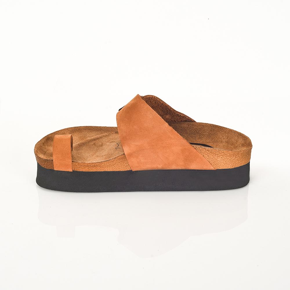 4,2cm Sandalia piel mujer - marrón