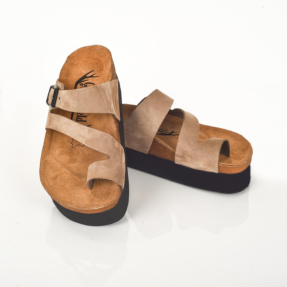 4,2cm Sandalia piel mujer - beige