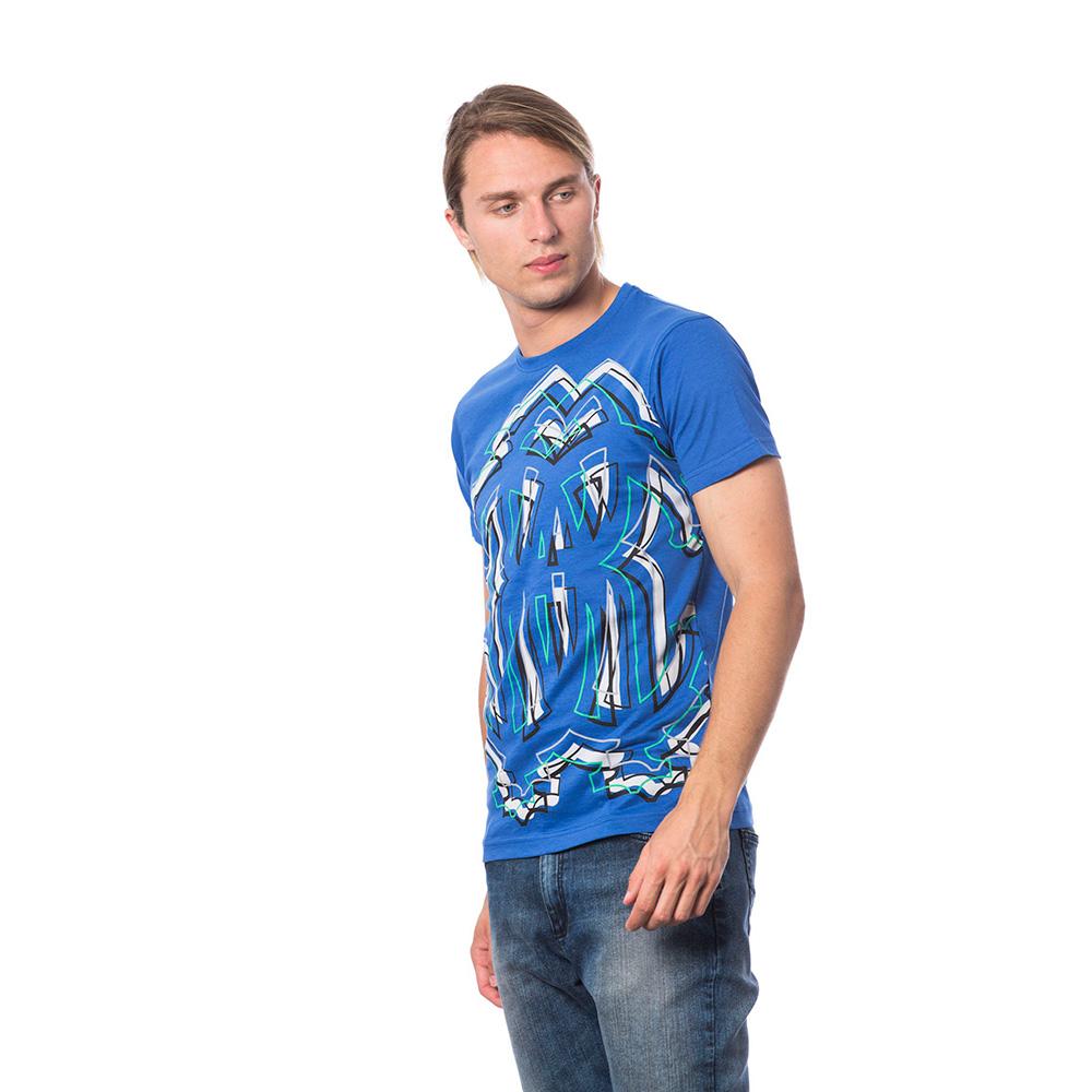 Camiseta m/corta hombre - azul