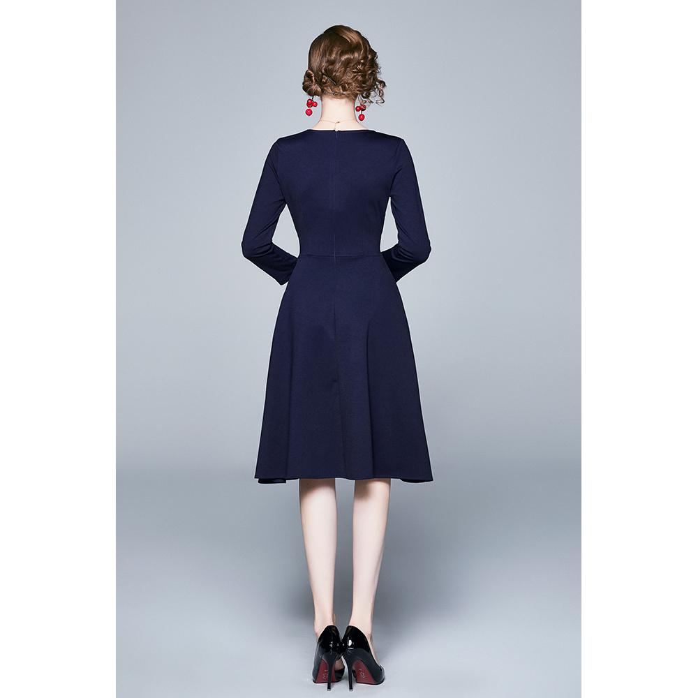 Vestido mujer - marino/multicolor