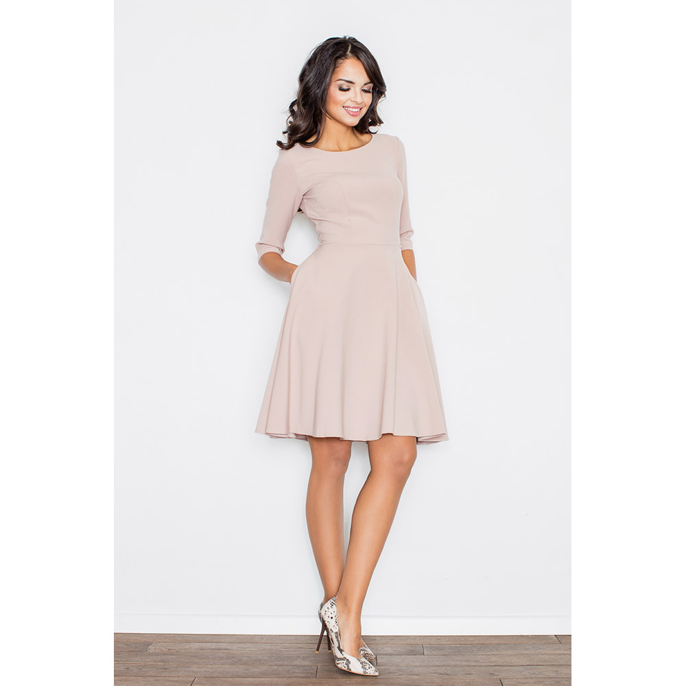 Vestido 3/4 mujer - rosa