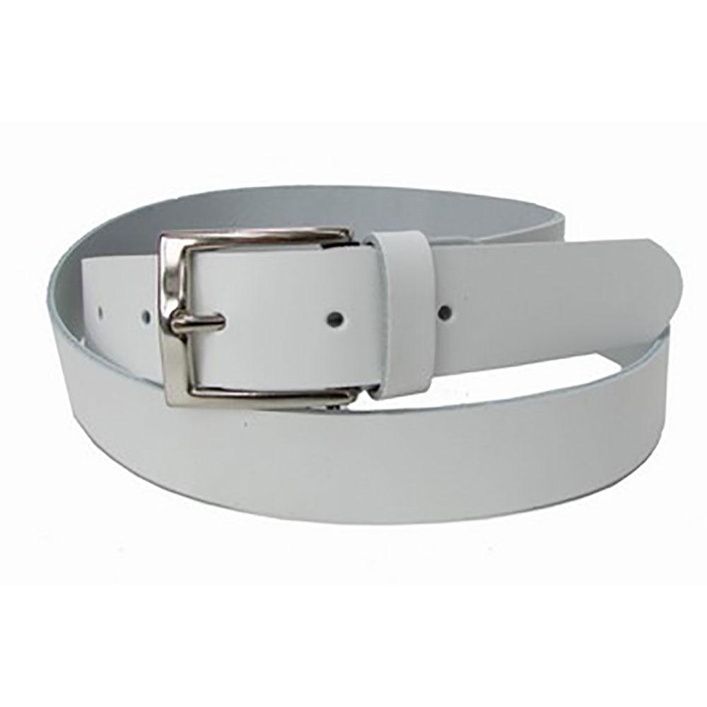 Cinturón piel hombre - blanco