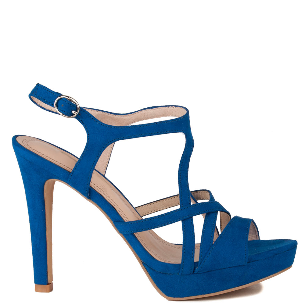 Tacón Tacón Sandalia Sandalia Mujer 12cm 12cm Azul Mujer R5AL43jcq