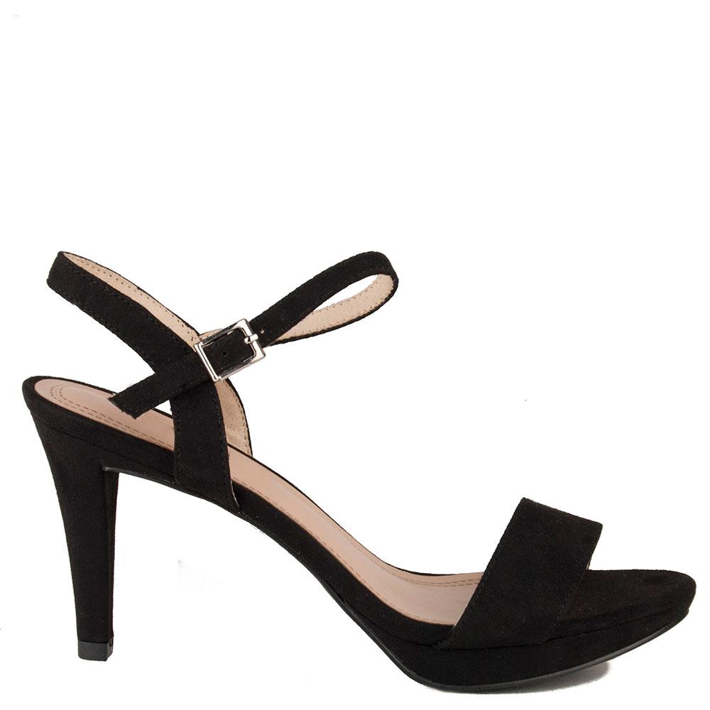 Negro 9cm 9cm Mujer Sandalia Tacón yvmn80wON