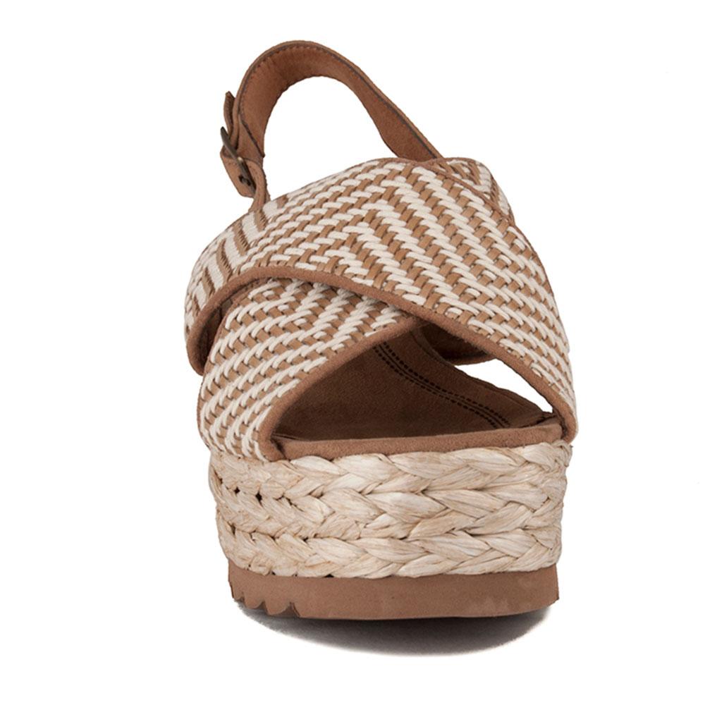 6,5cm Sandalia mujer - marrón