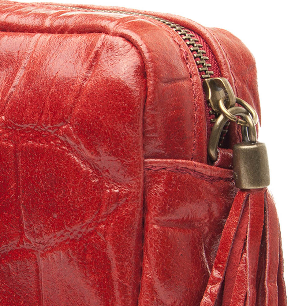Bolso piel mujer - rojo
