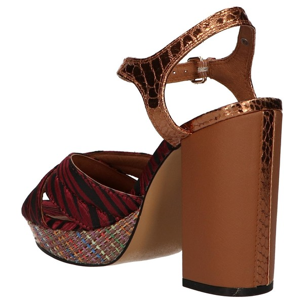11cm Sandalia tacón mujer - burdeos