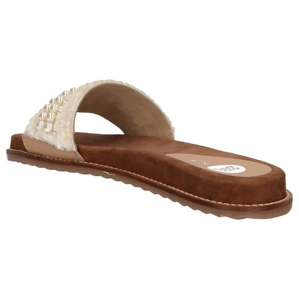 Sandalias planas mujer - beige