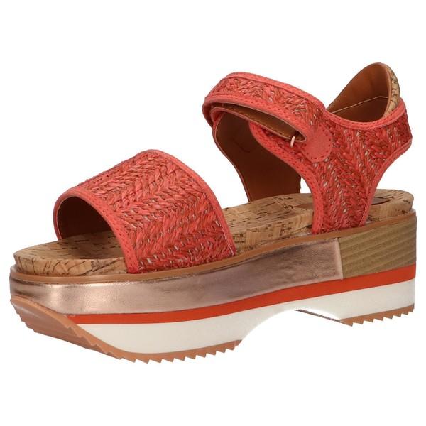 Sandalias - plataforma mujer - coral
