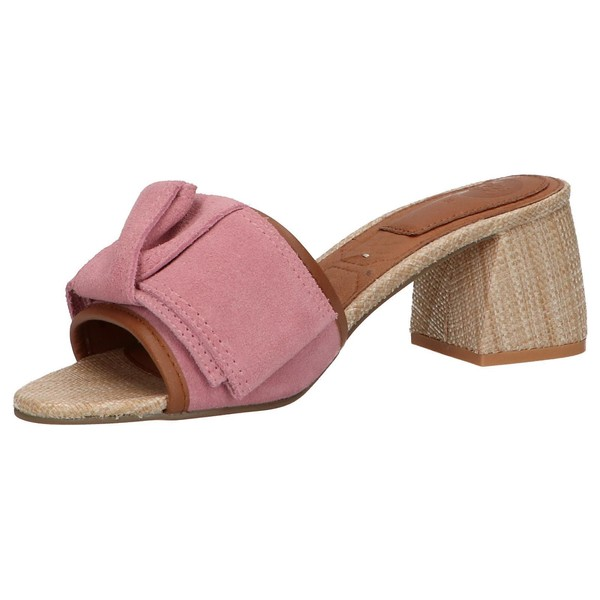 6cm Sandalia tacón piel mujer - rosa